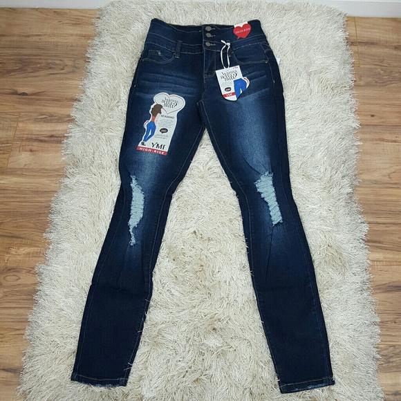 8e03cda106 YMI Jeans | High Waist Skinny Distressed By | Poshmark